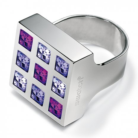 Swatch Bijoux Prismatic Purple Crystals Ring Anillo
