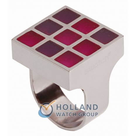 Swatch Bijoux Prismatic Red Ring Anillo