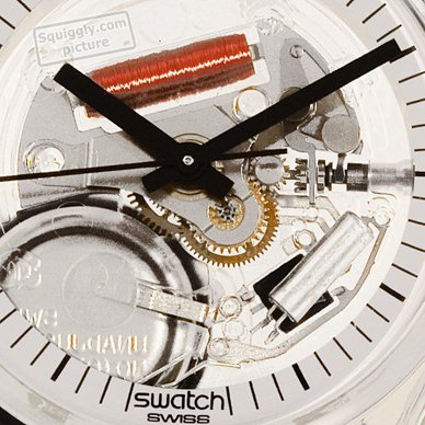 Skeleton Swatch Watch with White Dial Coleccion otoño-Invierno Swatch