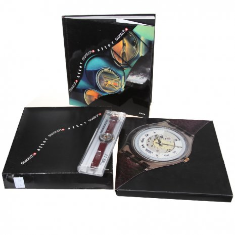 Swatch Electa Set With Book ( Rubin, Bluematic Or Black Motion) Reloj