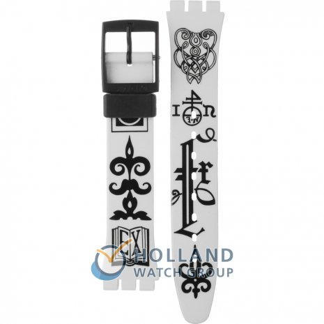 Swatch GB163 Black Letter Correa